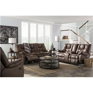 Benchcraft Burgett Faux Leather Reclining Power Sofa