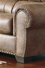 Large Scale Rolled Arms with Nailhead Trim