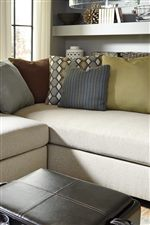 Loose Back Pillows with Stylish Fabrics