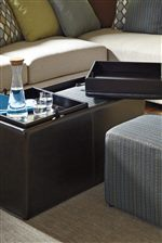 Storage Ottoman with Tray Tops and Cube Ottomans