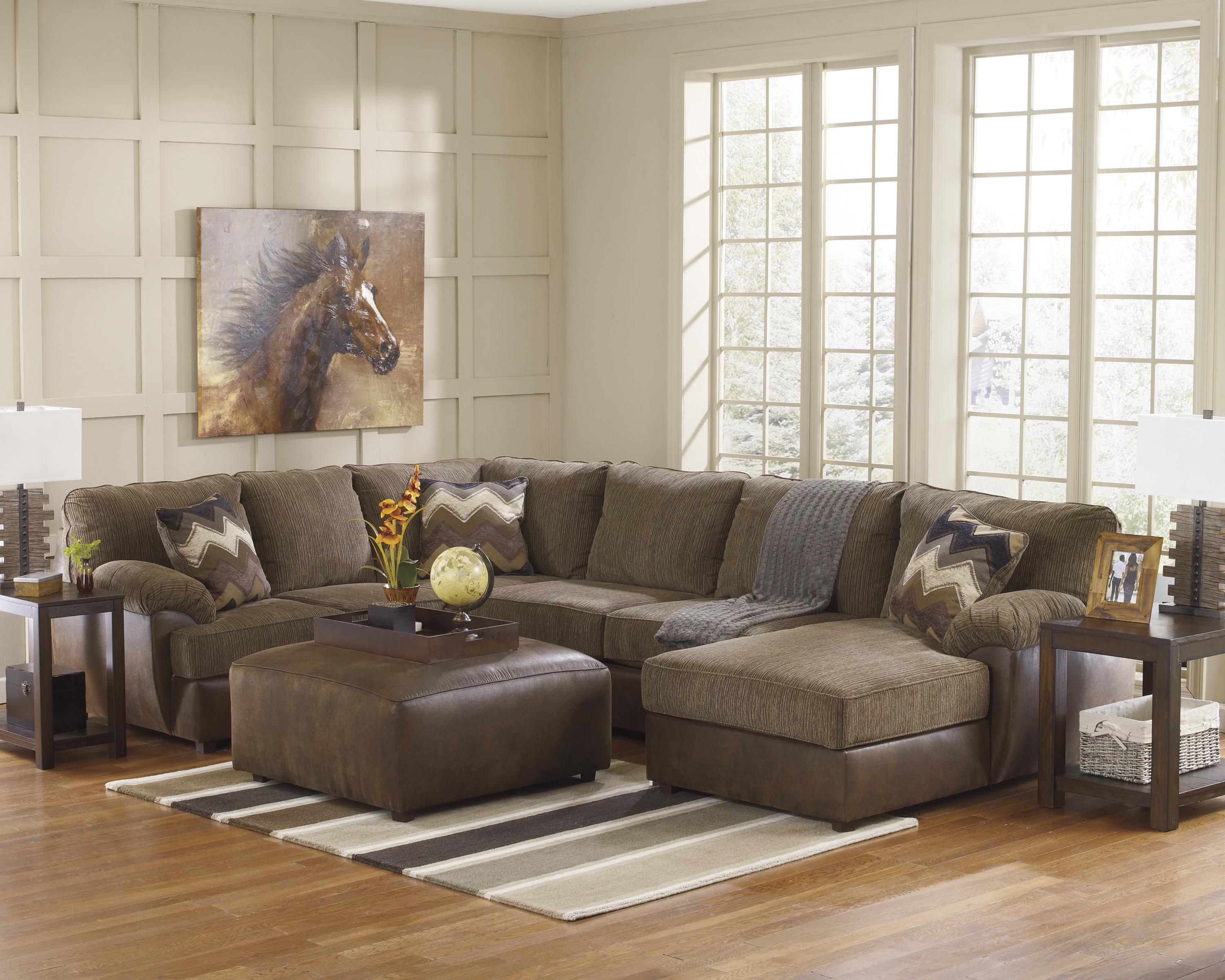 Benchcraft Cladio - Hickory Stationary Living Room Group - Item Number: 24100 Living Room Group 1