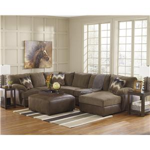 Benchcraft Cladio - Hickory Stationary Living Room Group