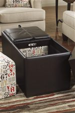 Removable/Reversible Tray Tops with 2 Cube Ottomans
