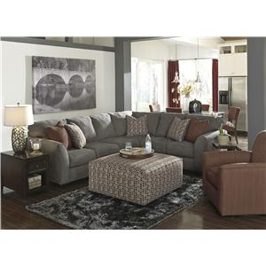 Benchcraft Doralin - Steel Contemporary Sectional with Tight Back