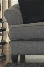 Contemporary Flared Arms and T-Style Seat Cushions