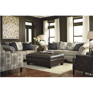 Benchcraft Jonette Loveseat with Loose Back Pillows & Reversible Seat Cushions