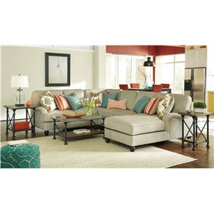 Benchcraft Kerridon 2-Piece Sectional with English Arms & Left Chaise