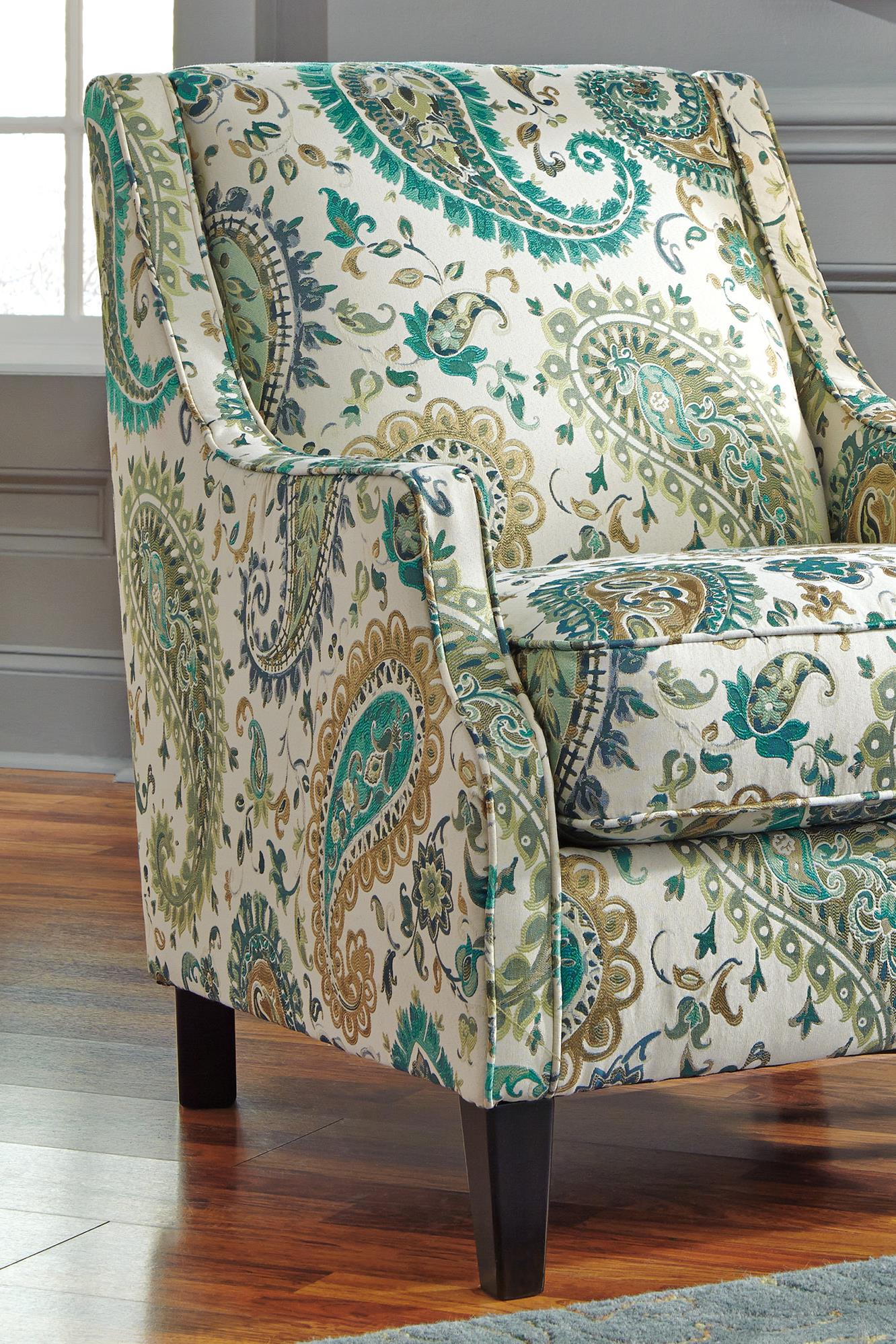 Benchcraft Lochian Transitional Accent Chair In Paisley Fabric | Wayside  Furniture | Upholstered Chairs