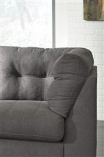 Attached Tufted Back with Tall Arms