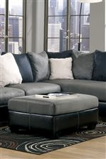 Oversized Accent Ottoman Can Be Used as Cocktail Ottoman