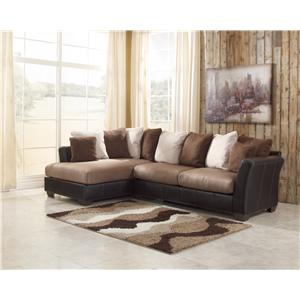 Benchcraft masoli mocha oversized swivel accent chair for Ashley brown sofa chaise