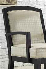 Wood Frame Chair with Shimmer Fabric