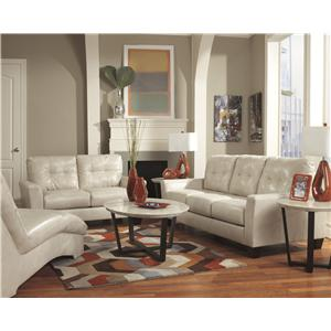 Ashley Paulie DuraBlend® - Taupe Stationary Living Room Group