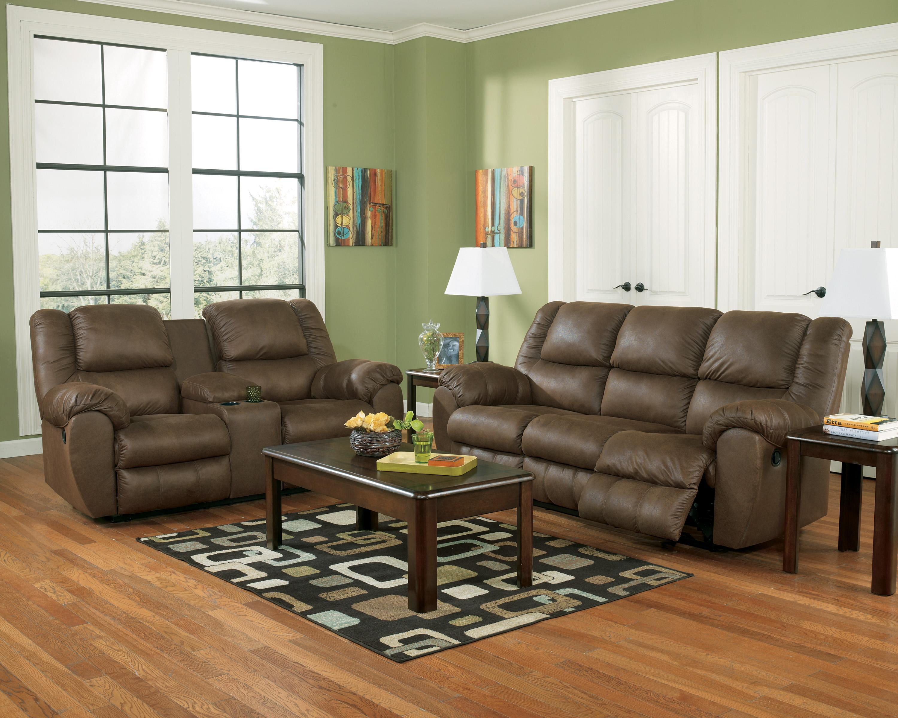 Benchcraft Quarterback - Canyon Reclining Living Room Group - Item Number: 32701 Living Room Group 1