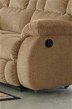 Pillow Arms with Contemporary Curved Front