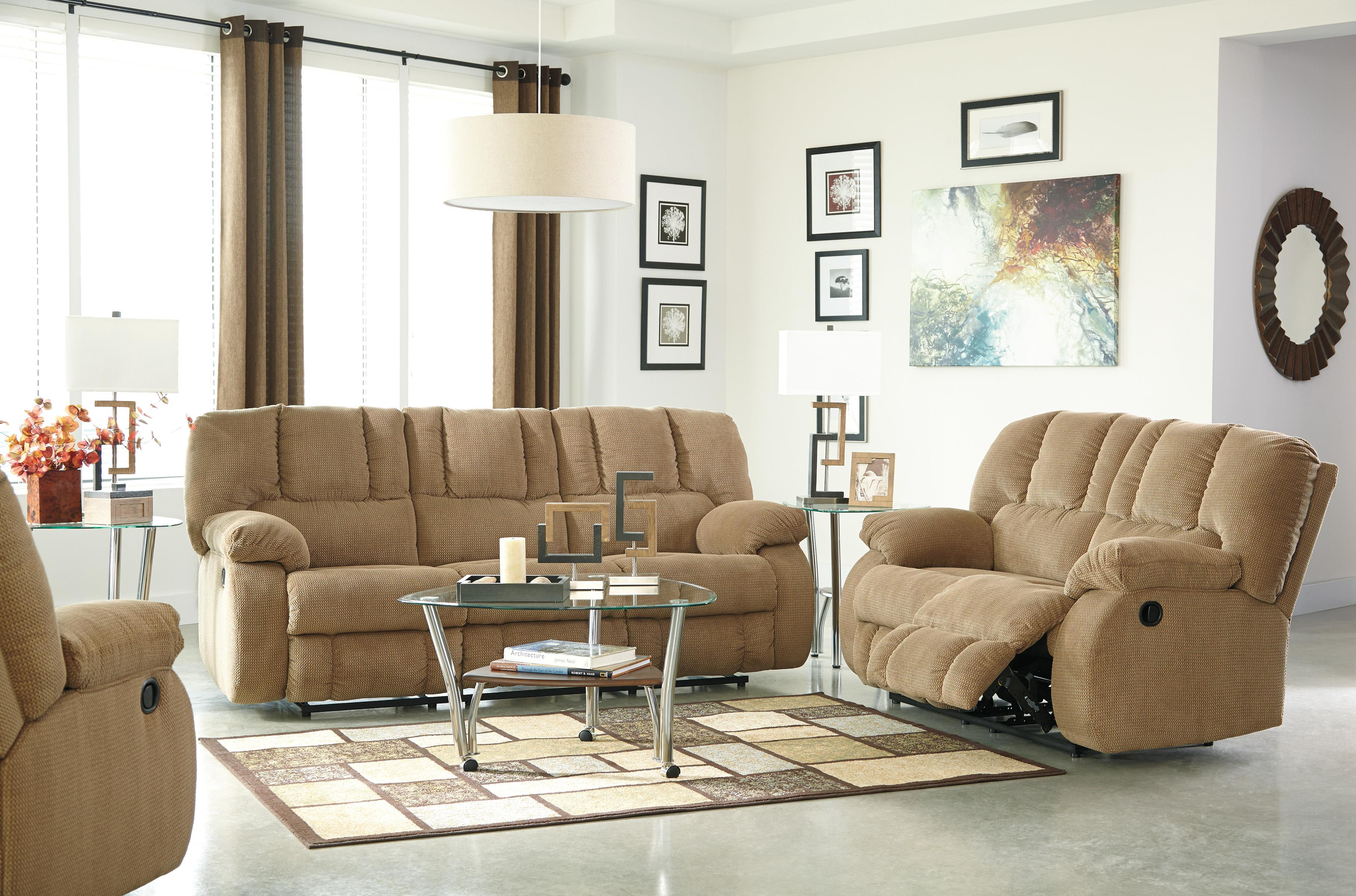 Benchcraft Roan Contemporary Reclining Sofa Wayside Furniture