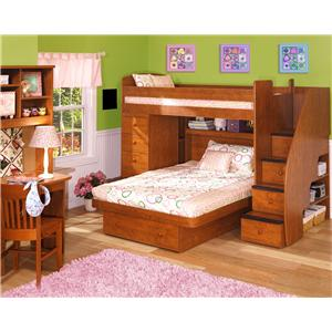 Berg Space Saver Twin Over Twin Bunk Bed with Two Chests