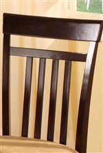 High Slatted Chair Back