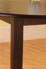 Simple Square Legs Beneath Round Drop Leaf Top