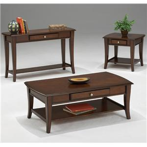 Morris Home Furnishings Broadway 3 Pc. Cocktail Table & 2 End Table Group