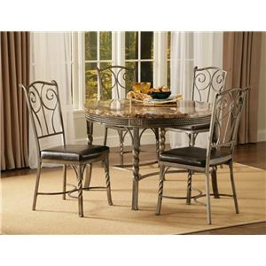 Morris Home Furnishings Madison Faux Marble / Metal Dinette Table