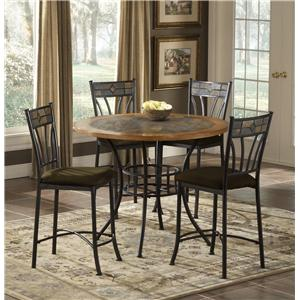Morris Home Furnishings Red Rock Pub Table with Stone Inlay