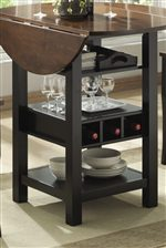 Wine Rack & Functional Storage on Table Base