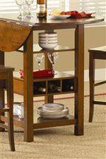 Wine Rack & Functional Storage on Table Base