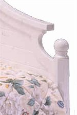 Elegant Molding and Finial Posts add Exquisite Detail