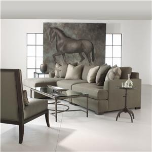 Bernhardt Adriana Sectional Sofa with Chaise Lounger
