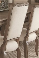 Select Dining Chairs can be Customized with a Variety of Fabric and Nailhead Choices