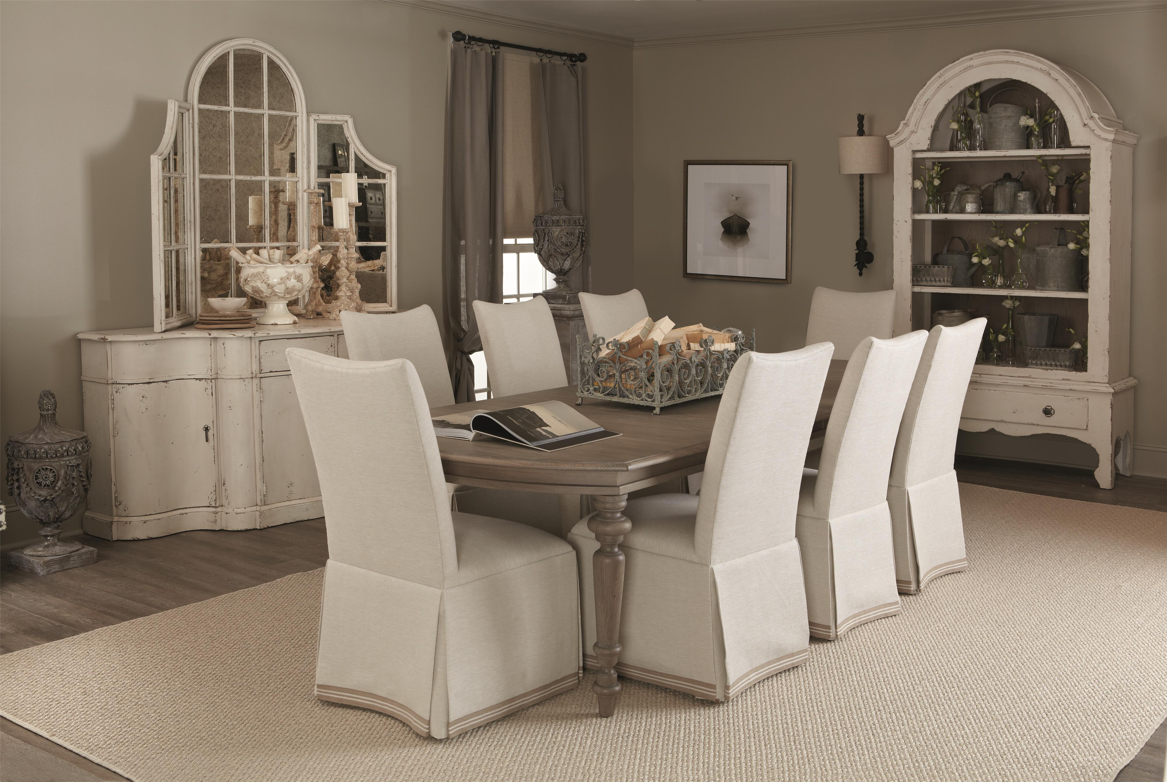 Bernhardt Auberge Round Dining Table With Decorative Solid Steel Base |  Wayside Furniture | Kitchen Tables