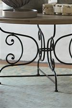 Metal Bases Feature Beautiful Scroll Detail