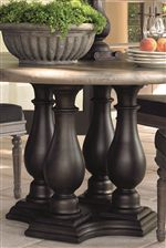 Beautifully Carved Table Bases Envelope Each Piece in High-End Style