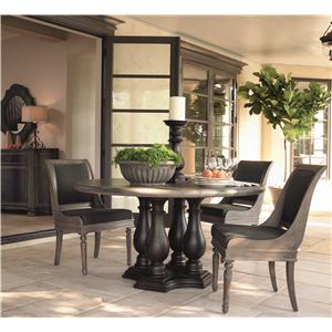 Bernhardt Belgian Oak Transitional Bar Stool with Timeless Modern Style