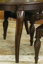 Cabriole and Turned Legs are Highlighted by Carved Elements in the Dining Sets