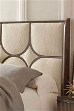 Upholstered Accents Highlight Contemporary Flair