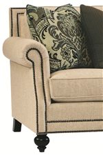 Nail Head Accents Provide Traditional Detail, Creating Elegant Style for High End Living Rooms