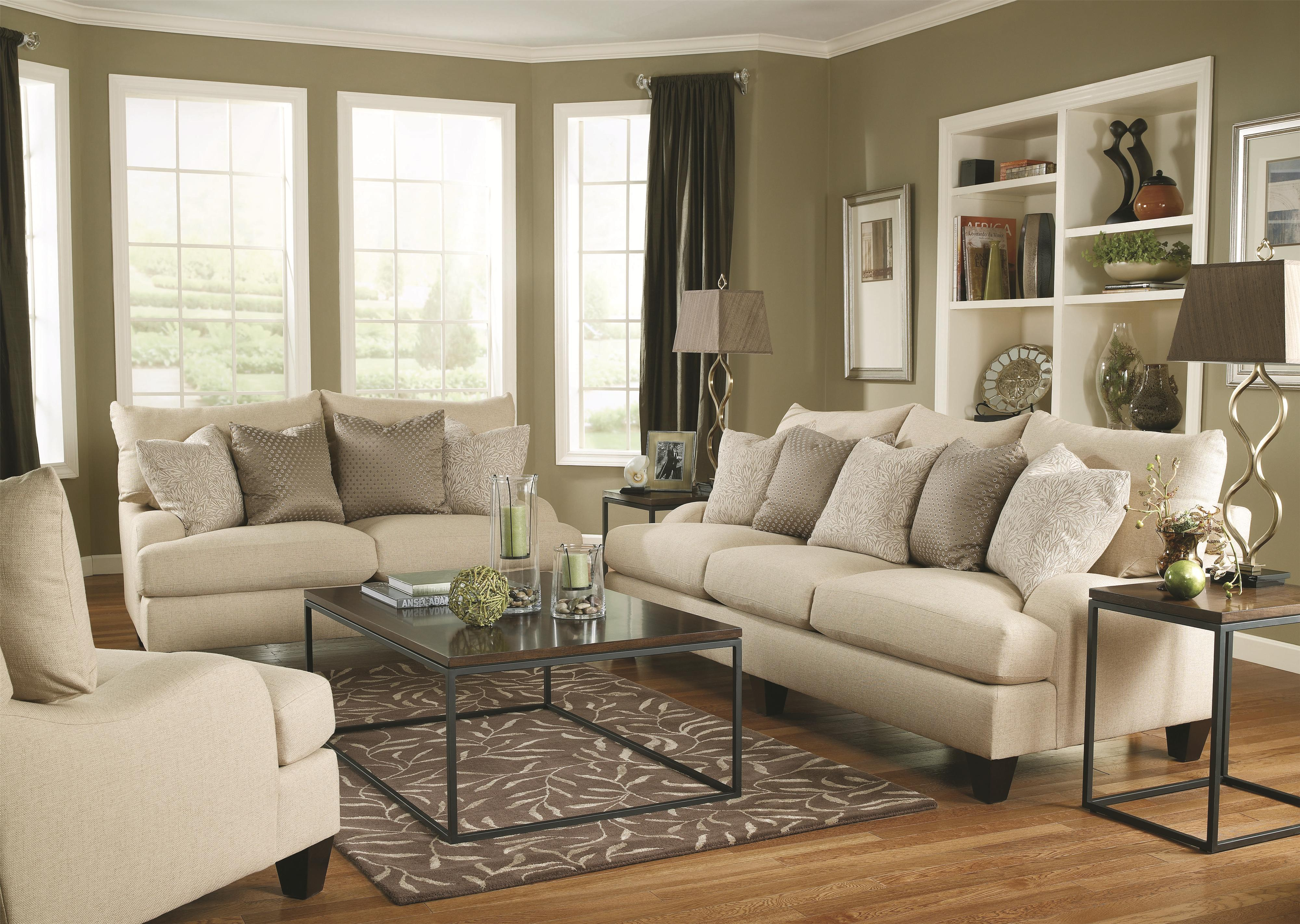 Bernhardt Brooke Upholstered Sofa with Block Legs Wayside