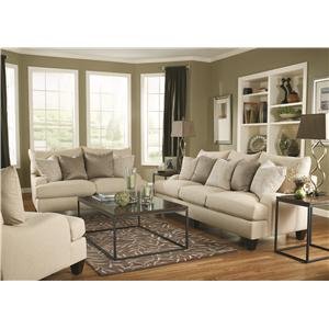 Bernhardt Brooke  Upholstered Sofa with Block Legs