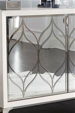 Mirrored Panels with Curved Metalwork Add Rich Detail