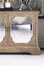 Antique Mirrored Glass Accents Provide a Subtle Touch of Glamour