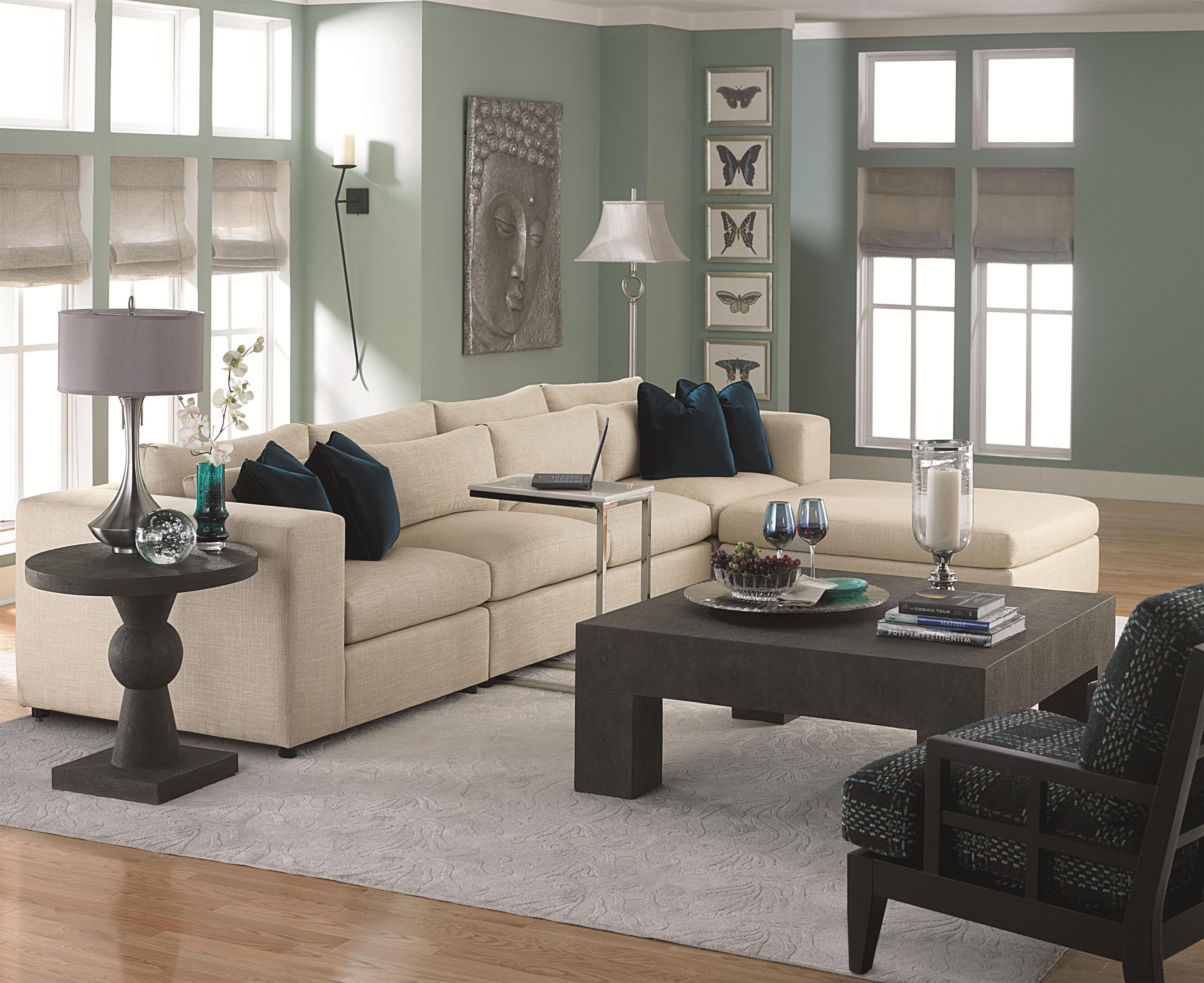 Bernhardt o Contemporary Sectional Sofa with Modern Living Room
