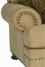 Rolled Arms with Nailhead Trim Decoration