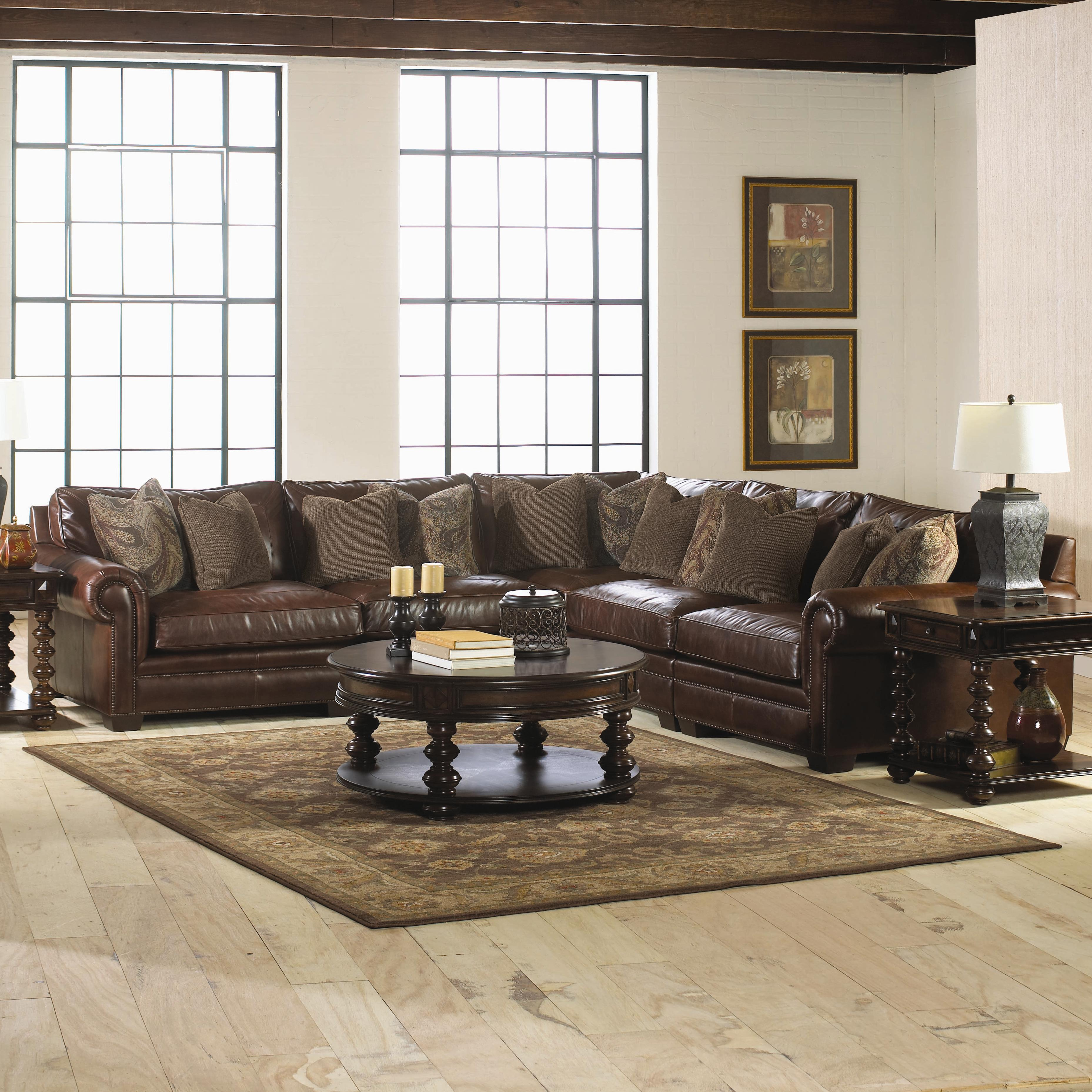 Bernhardt Grandview 5 Piece Traditional Sectional Sofa Wayside