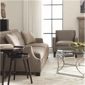 Bernhardt Interiors - Franco High End Transitional Sofa with Modern Style and Nail Head Trim