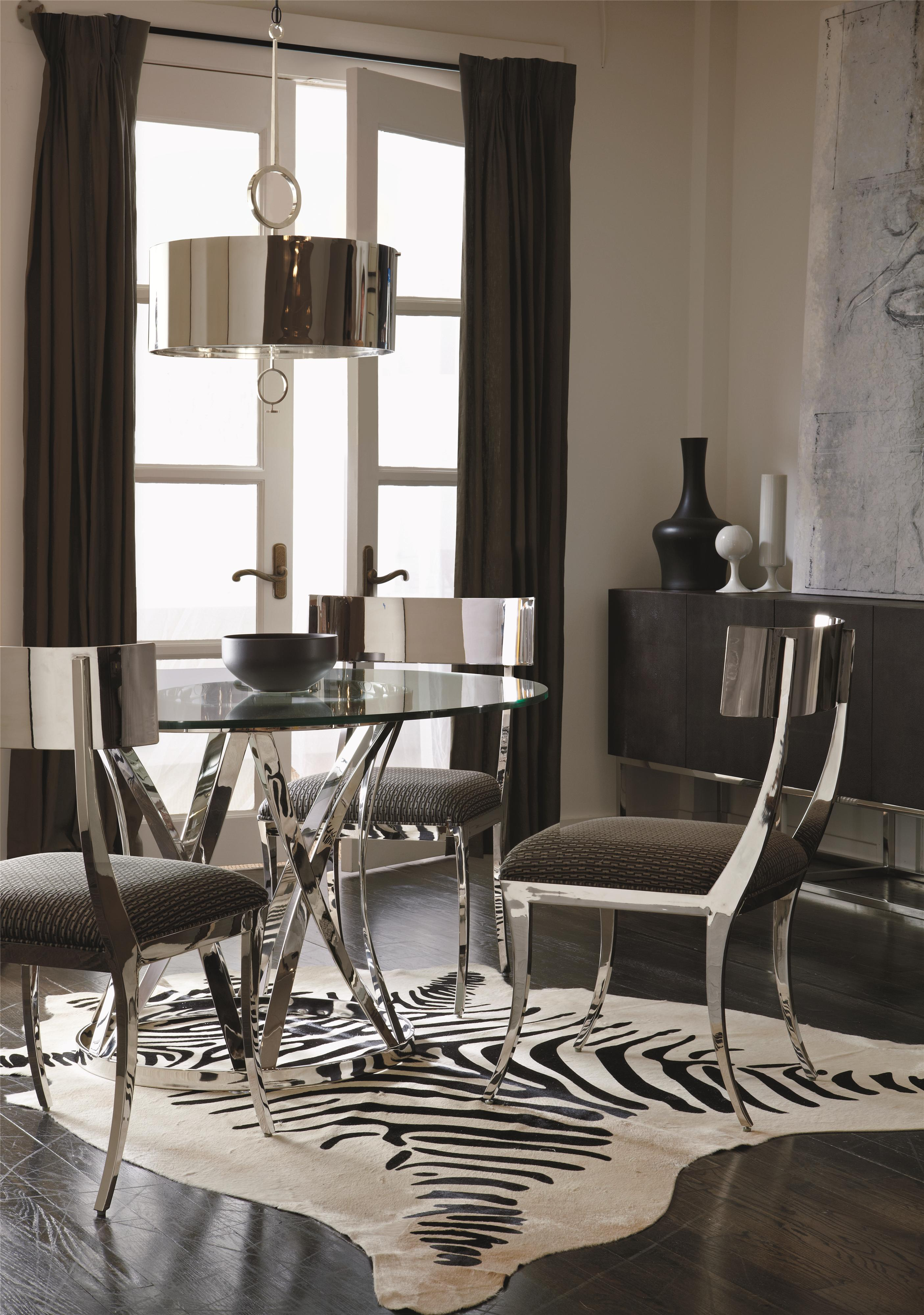 Etonnant Bernhardt Interiors   Gustav 4 Piece Contemporary Dining Table And Chair  Set | Stuckey Furniture | Dining 5 Piece Sets