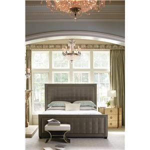 Bernhardt Jet Set King Upholstered Wing Bed