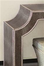 Tables Wrapped in Hornback Crocodile Embossed Leather Pull from the Look of Designer Handbags