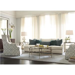 Ordinaire Bernhardt Josh Sofa With Decorative Throw Pillows